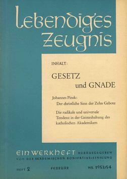 GESETZ UND GNADE - 1954 Heft 1 - 9. Jahrgang