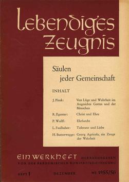 SÄULEN JEDER GEMEINSCHAFT  - 1955 Heft 3 - 10. Jahrgang