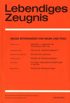 NEUES MITEINANDER VON MANN UND FRAU  - 1991 Heft 3 - 46. Jahrgang