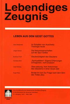 LEBEN AUS DEM GEIST GOTTES  - 1996 Heft 1 - 51. Jahrgang