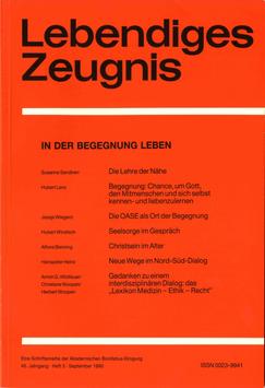 IN DER BEGEGNUNG LERNEN  - 1990 Heft 3 - 45. Jahrgang