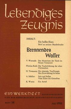 BRENNENDES WASSER- 1952 Heft 3 - 7. Jahrgang