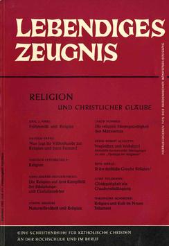 RELIGION UND CHRISTLICHER GLAUBE - 1962 Heft 3/4 - 17. Jahrgang