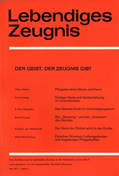 DER GEIST, DER ZEUGNIS GIBT - 1971 Heft 2 - 26. Jahrgang