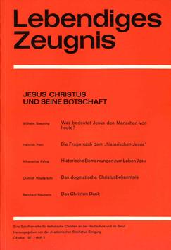 JESUS CHRISTUS UND SEINE BOTSCHAFT - 1971 Heft 3 - 26. Jahrgang