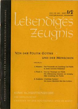 VON DER POLITIK GOTTES UND DER MENSCHEN - 1957 Heft 1 - 12. Jahrgang