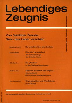 VON FESTLICHER FREUDE: DENN DAS LEBEN ERSCHIEN - 1964 Heft 4 - 19. Jahrgang