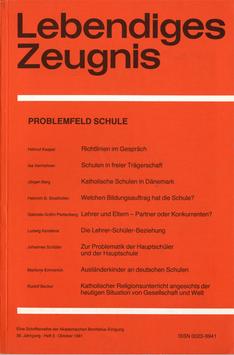 PROBLEMFELD SCHULE  - 1981 Heft 3 - 36. Jahrgang