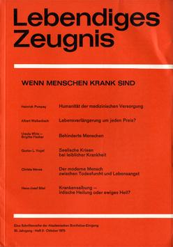 WENN MENSCHEN KRANK SIND  - 1975 Heft 3 - 30. Jahrgang