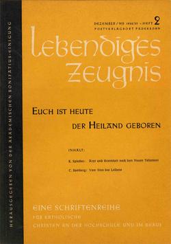 EUCH IST HEUTE DER HEILAND GEBOREN - 1958 Heft 4 - 13. Jahrgang