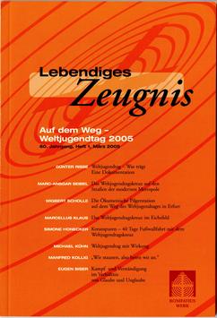 AUF DEM WEG - WELTJUGENDTAG 2015 - 2005 Heft 1 - 60. Jahrgang