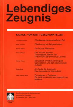 KAIROS: VON GOTT GESCHENKTE ZEIT  - 2000 Heft 1 - 55. Jahrgang