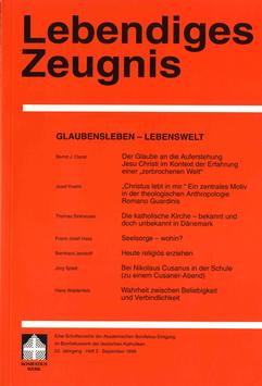 GLAUBENSLEBEN - LEBENSWELT - 1998Heft 3 - 53. Jahrgang