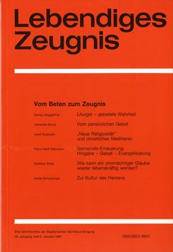 VOM BETEN ZUM ZEUGNIS  - 1984 Heft 3 - 39. Jahrgang