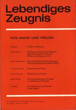 VON ANGST UND FREUDE - 1976 Heft 2 - 31. Jahrgang