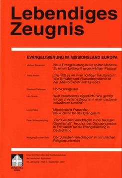 EVANGELISIERUNG IM MISSIONSLAND EUROPA  - 2001 Heft 3 - 56. Jahrgang
