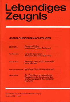 JESUS CHRISTUS NACHFOLGEN - 1972 Heft 4 - 27. Jahrgang