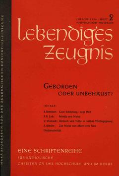 GEBORGEN ODER UNBEHAUST? - 1956 Heft 3 - 11. Jahrgang