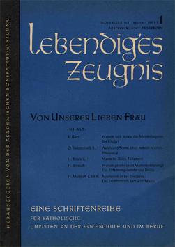 VON UNSERER LIEBEN FRAU - 1957 Heft 3 - 12. Jahrgang
