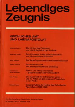 KIRCHLICHES AMT UND LAIENAPOSTOLAT - 1978 Heft 4 - 33. Jahrgang