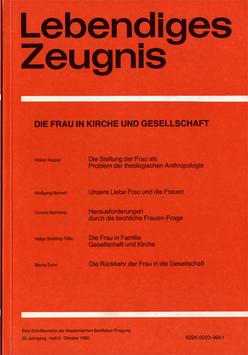 DIE FRAU IN KIRCHE UND GESELLSCHAFT  - 1980 Heft 3 - 35. Jahrgang