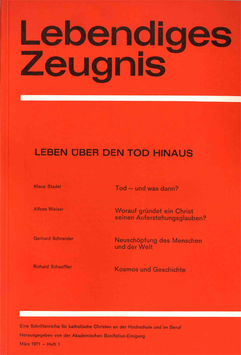 LEBEN ÜBER DEN TOD HINAUS - 1971 Heft 1 - 26. Jahrgang