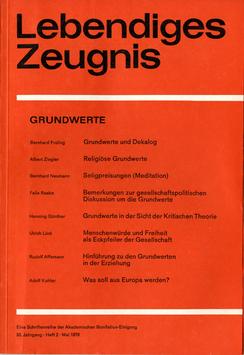 GRUNDWERTE - 1978 Heft 2 - 33. Jahrgang