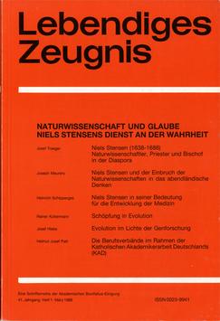 NATURWISSENSCHAFT UND GLAUBE. NIELS STENSENS DIENST AN DER WAHRHEIT - 1986 Heft 1 - 41. Jahrgang