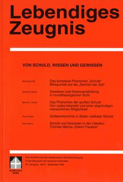 VON SCHULD WISSEN UND GEWISSEN - 1995 Heft 3 - 50. Jahrgang