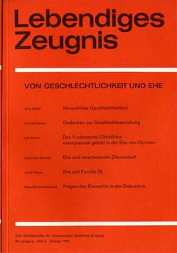 VON GESCHLECHTLICHKEIT UND EHE - 1978 Heft 3 - 33. Jahrgang