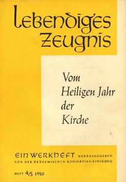 VOM HEILIGEN JAHR DER KIRCHE - 1950 Heft 1 - 5. Jahrgang