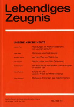 UNSERE KIRCHE HEUTE - 1984 Heft 2 - 39. Jahrgang