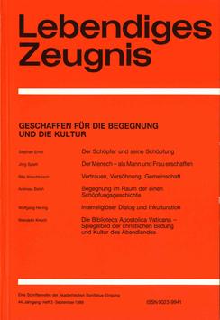 GESCHAFFEN FÜR DIE BEGEGNUNG UND DIE KULTUR  - 1989 Heft 3 - 44. Jahrgang