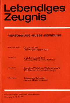 VERSÖHNUNG - BUSSE - BEFREIUNG  - 1975 Heft 2 - 30. Jahrgang