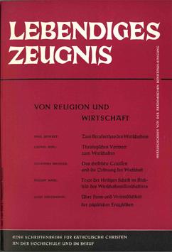 VON RELIGION UND WIRTSCHAFT - 1962 Heft 2 - 17. Jahrgang