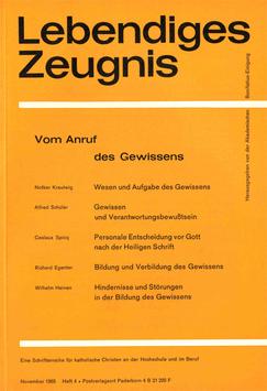 VOM ANRUF DES GEWISSENS - 1965 Heft 4 - 20. Jahrgang