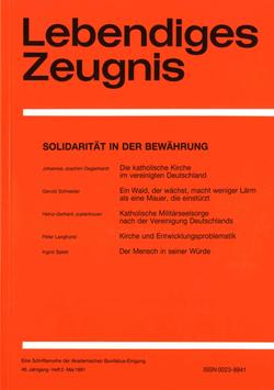 SOLIDARITÄT IN DER BEWÄHRUNG - 1991 Heft 2 - 46. Jahrgang