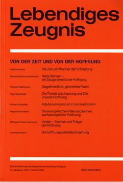VON DER ZEIT UND VON DER HOFFNUNG  - 1988 Heft 3 - 43. Jahrgang