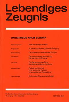 UNTERWEGS NACH EUROPA  - 1992 Heft 1 - 47. Jahrgang