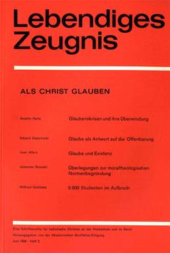 ALS CHRIST GLAUBEN - 1968 Heft 2 - 23. Jahrgang