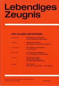 DEN GLAUBEN WEITERGEBEN - 1987 Heft 1 - 42. Jahrgang