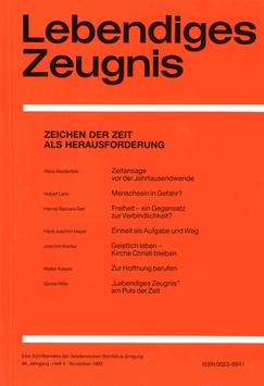 ZEICHEN DER ZEIT ALS HERAUSFORDERUNG  - 1993 Heft 4 - 48. Jahrgang