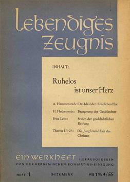 RUHELOS IST UNSER HERZ - 1954 Heft 4 - 9. Jahrgang