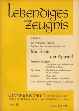 MITARBEITER DER APOSTEL - 1951 Heft 5 - 6. Jahrgang