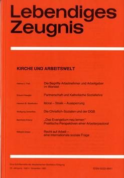 KIRCHE UND ARBEITSWELT - 1980 Heft 4 - 35. Jahrgang