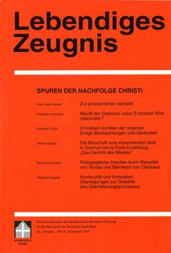 SPUREN DER NACHFOLGE CHRISTI  - 1997 Heft 4 - 52. Jahrgang