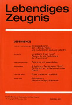 LEBENSENDE  - 1986 Heft 4 - 41. Jahrgang