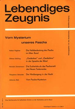 VOM MYSTERIUM UNSERES PASCHA - 1965 Heft 3 - 20. Jahrgang