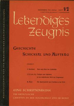 GESCHICHTE, SCHICKSAL UND AUFTRAG - 1959 Heft 3 - 14. Jahrgang