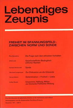 FREIHEIT IM SPANNUNGSFELD – ZWISCHEN NORM UND SÜNDE - 1971 Heft 4 - 26. Jahrgang